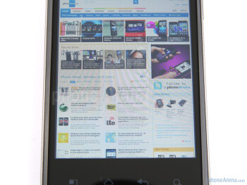 LG Optimus 2X - Displays and viewing angles of the Apple iPhone 4, the Nokia E7 and the LG Optimus 2X - Nokia E7 vs LG Optimus 2X vs Apple iPhone 4