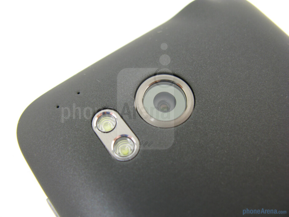 On the back is the 8MP autofocus camera with dual LED flash - HTC ThunderBolt Review