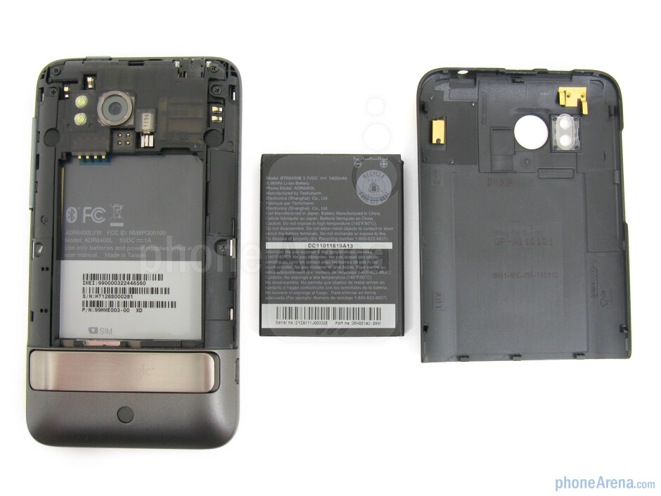 The back side and the battery cover - HTC ThunderBolt Review