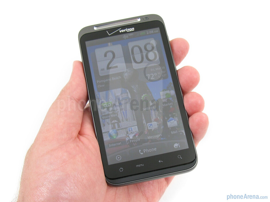 The HTC ThunderBolt is constructed out of plastic, but feels quite sturdy - HTC ThunderBolt Review