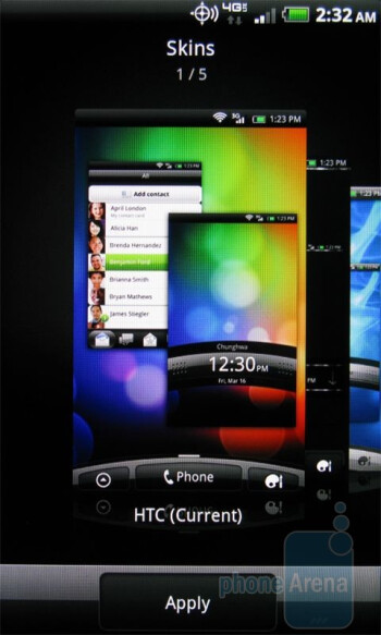 The HTC ThunderBolt has a world of desktop widgets, scenes and skins that make it highly-customizable - HTC ThunderBolt vs Apple iPhone 4