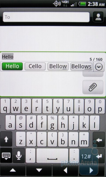 The QWERTY keyboard of the HTC ThunderBolt - Motorola DROID 3 vs HTC ThunderBolt