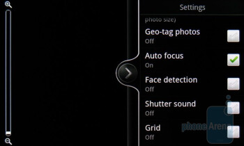 The camera interface of HTC ThunderBolt - HTC ThunderBolt vs Apple iPhone 4