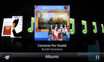 The Music Player of HTC ThunderBolt - Motorola DROID 3 vs HTC ThunderBolt