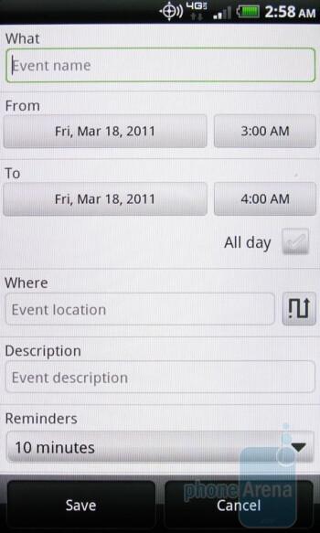 The Calendar - HTC ThunderBolt Review