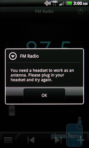 The FM Radio app - HTC ThunderBolt Review