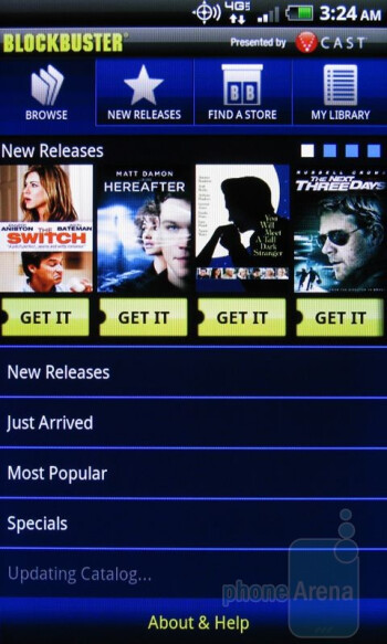 Apps for video streaming on the HTC ThunderBolt - HTC ThunderBolt Review