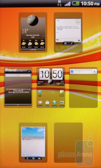 The interface of the HTC Incredible S - HTC Incredible S Review