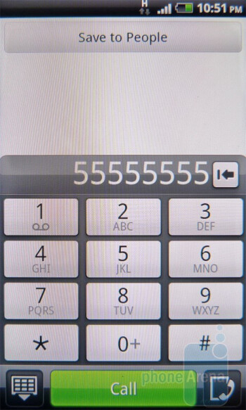 Dialer - HTC Incredible S Review