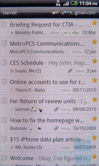 Gmail - HTC Incredible S Review