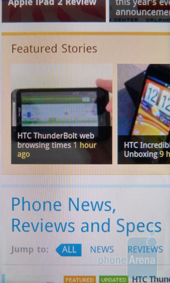 The web browsing performance with the HTC Incredible S is indeed incredible - HTC Incredible S Review