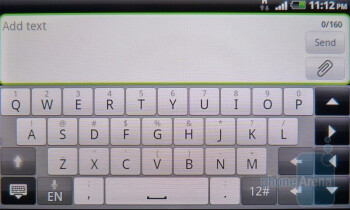 The keyboard of the HTC Incredible S - HTC Incredible S Review