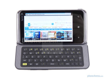 The HTC Arrive has 5-row QWERTY keyboard - HTC Arrive Review