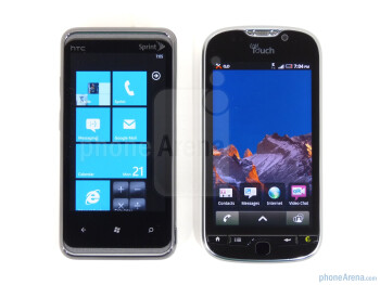 The HTC Arrive (L) and the T-Mobile myTouch 4G (R) - HTC Arrive Review