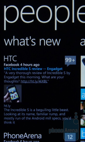 People app - HTC Arrive Review