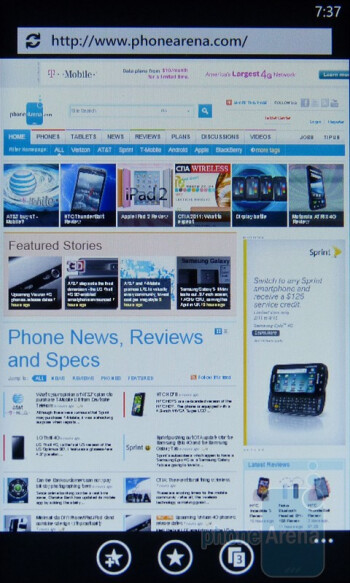 Surfing the web with the HTC Arrive - HTC Arrive Review