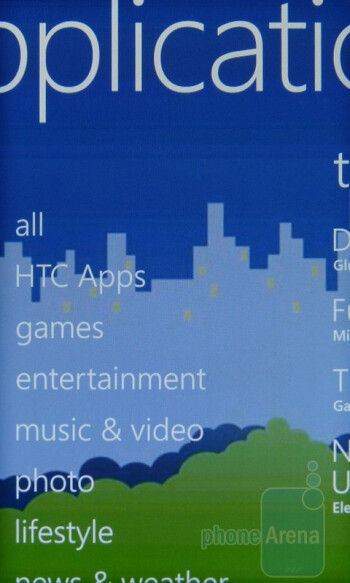 Applications - HTC Arrive Review