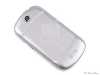 The battery cover of the LG Optimus Me P350comes in a variety of youthful colors - LG Optimus Me P350 Review
