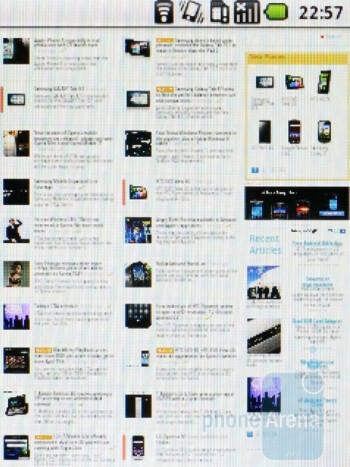Browsing on the LG Optimus Me P350 - LG Optimus Me P350 Review