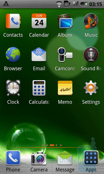 The altek Leo is running Android 2.1 - altek Leo Preview