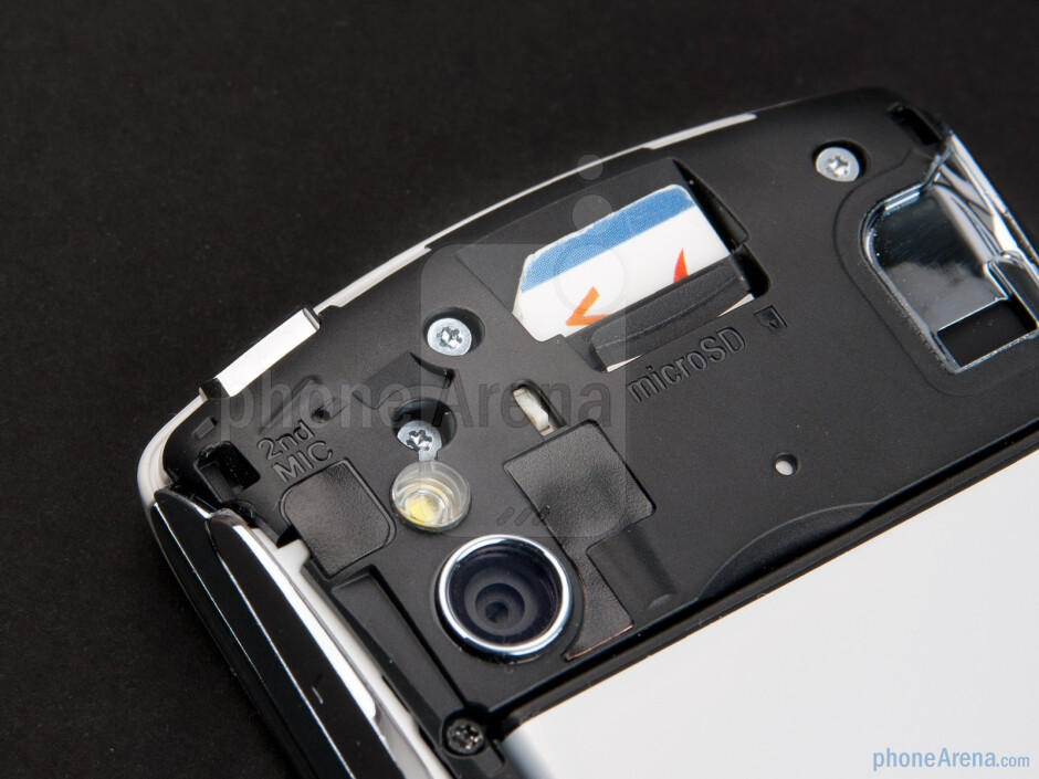 Under the back cover - Sony Ericsson Xperia PLAY Review