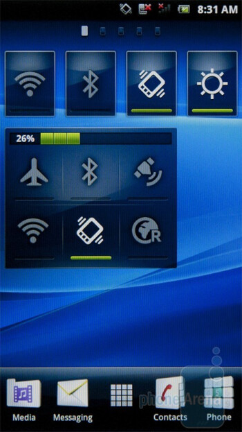 Homescreens of the Sony Ericsson Xperia Play - The new version of Sony Ericsson's UX Android interface - Sony Ericsson Xperia PLAY Review