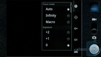 The camera interface of the Sony Ericsson Xperia PLAY - Sony Ericsson Xperia PLAY Review