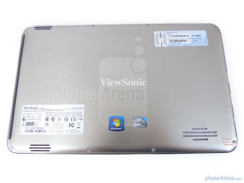 The back side of the ViewSonic ViewPad 10 - ViewSonic ViewPad 10 Review