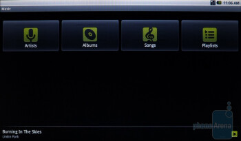 The stock Android music player - ViewSonic ViewPad 10 Review