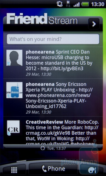The HTC Desire S showcases the latest version of HTC Sense - HTC Desire S Review