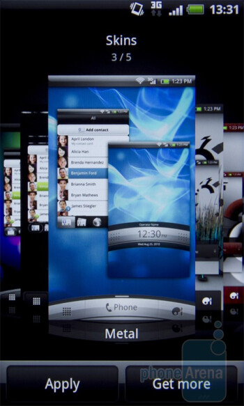 Customization options - HTC Desire S Review