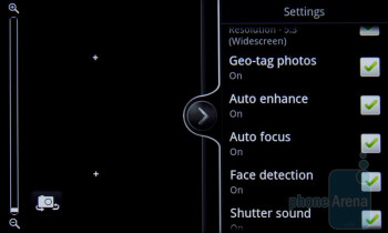 Camera interface - HTC Desire S Review