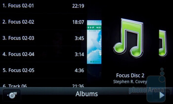 The music player has nice visuals - HTC Desire S Review