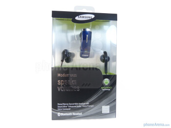 The packaging of the Samsung Modus HM6450 - Samsung Modus HM6450 Review