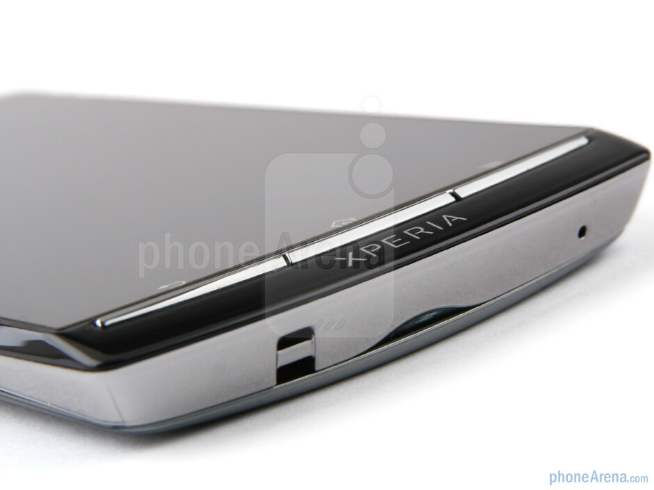 Under the screen are three thin Android navigational buttons - Sony Ericsson Xperia arc Review