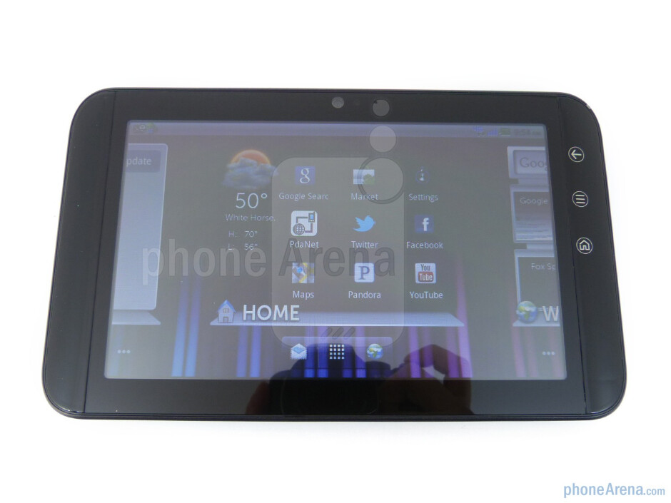 Viewing angles of the Dell Streak 7 - Dell Streak 7 Review