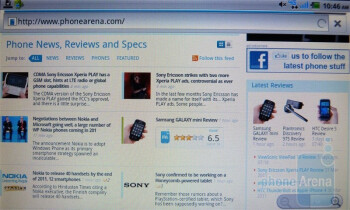 Web browsing with the Dell Streak 7 - Dell Streak 7 Review