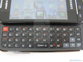The sliding QWERTY keyboard of the Samsung Galaxy Indulge - Samsung Galaxy Indulge Review