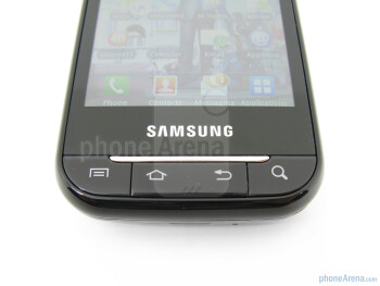Buttons under the display - The sides of the Samsung Galaxy Indulge - Samsung Galaxy Indulge Review