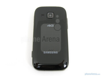 You have to remove the battery cover to access the microSD card slot - Samsung Galaxy Indulge Review