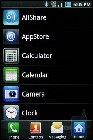 The applications menu - Samsung Galaxy Indulge Review