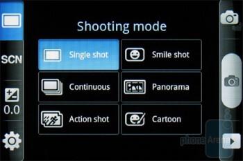 Camera interface - Samsung Galaxy Indulge Review