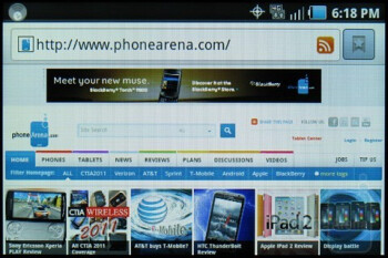 Web browsing - Samsung Galaxy Indulge Review