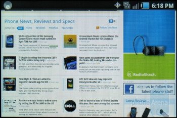 Web browsing - Samsung Galaxy Indulge Review