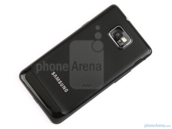 The textured back cover hosts the 8MP camera with a LED flash - Samsung Galaxy S II Preview