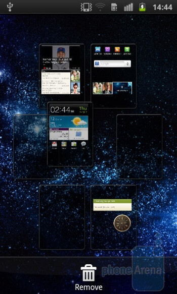 Editing the homescreens of the Samsung Galaxy S II - Samsung Galaxy S II Preview