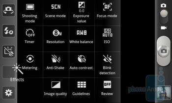 Camcorder interface - Samsung Galaxy S II Preview