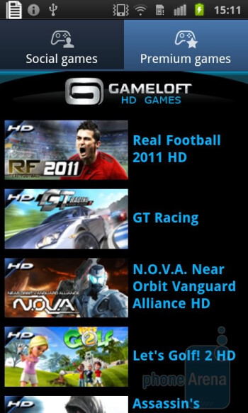 The Games Hub - Samsung Galaxy S II Preview