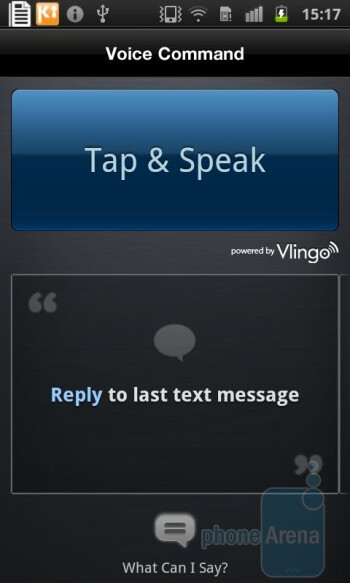 Voice Command - Samsung Galaxy S II Preview