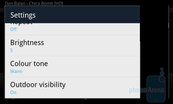 Video player options - Samsung Galaxy S II Preview